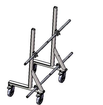 Transportný vozík na sklo MZK 2000